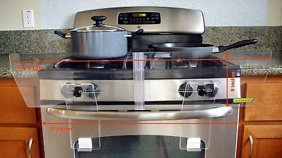 """Stove Guard For Free Standing Gas And Electric Stove 33.5"""" x 9"""" Inch SHIPS FREE"""