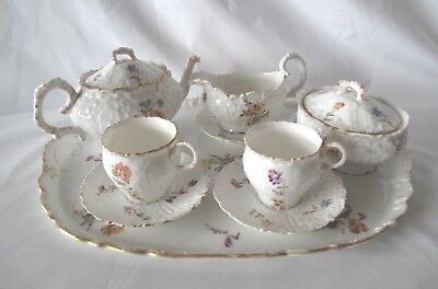 Beautiful 9 Piece Floral Bone China Tea Set Including Tray