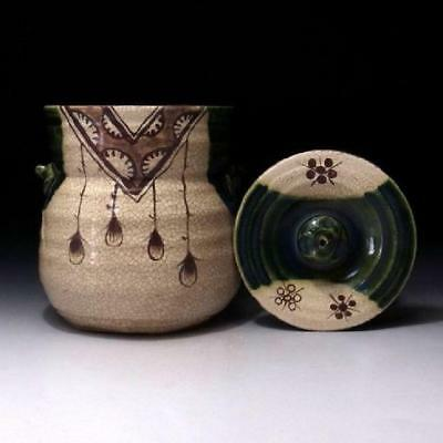 Japanese Ceramics/ Oribe Water Container by the Famous Kageto Kato /Tea Ceremony