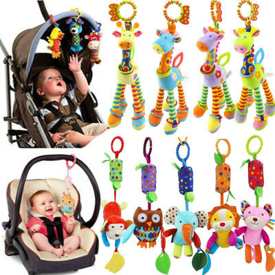 Baby Activity Spiral Stroller Car Seat Travel Lathe Hanging Toys Rattles Gift