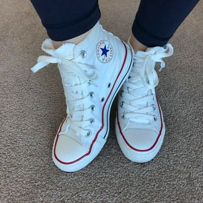 Converse All Star High, White Size 6