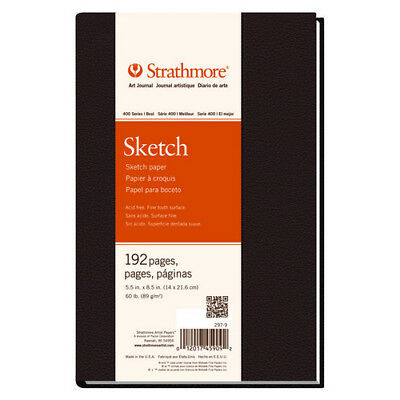 Strathmore / Pacon Papers 2979 400 Series Hardbound Sketch Book 60Lb 192 Page...