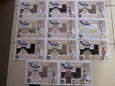 x 11 AFL Geelong Cats Box Cat Figures Brand New Selwood Tayler Hawkins Johnson