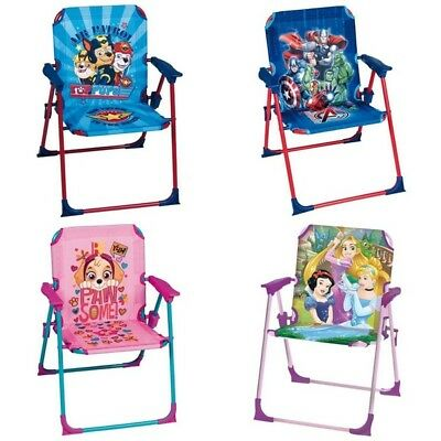 New Disney Themed Indoor And Outdoor Kids Garden  Folding Chair With Safety Lock