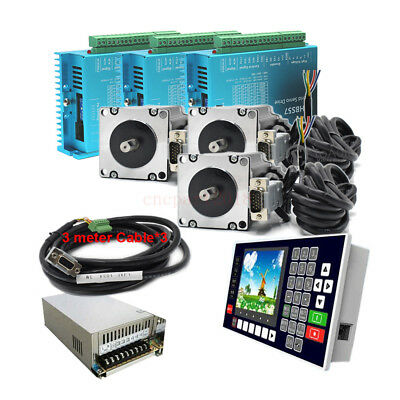 3 Axis 3NM Closed Loop Stepper Motor Nema23 Driver Kit+ Controller+Power Supply