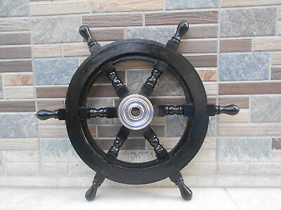 "Vintage Wall Decor Nautical 18"" Boat Ship Wheel Wooden Steering Wheel Replica"