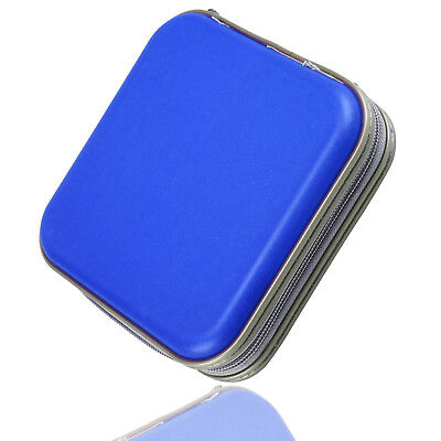 Blue 40 Disc Disk CD/DVD Case Sleeve Plastic Bag Portable Wallet Holder Storage