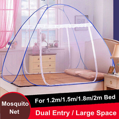 Mosquito Net Easy Pop Up Fold Free Standing Tent Dual Door Netting Protection