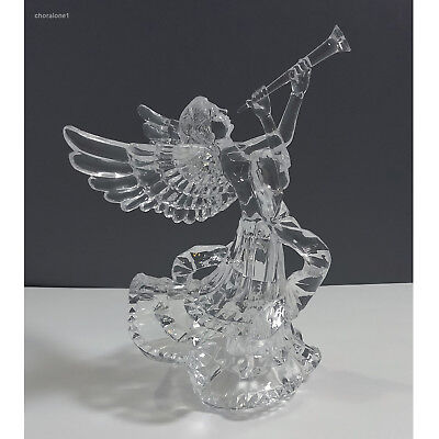 Silvestri Vintage Clear Plastic Acrylic Angel Wonder of Christmas Tree Topper