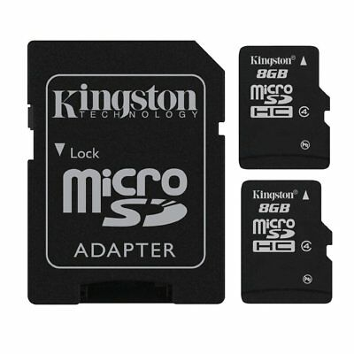 2x Kingston 8GB 8 GB SDC4/8GB MicroSD Micro SD Flash Memory Card Class 4 TF