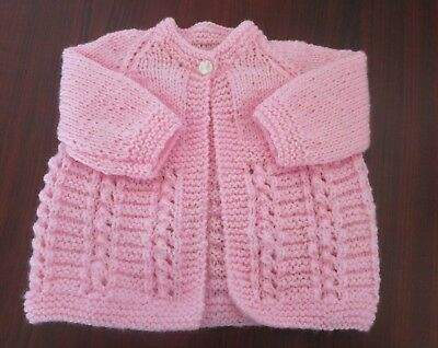 New Hand Knitted Prem/ Baby jacket size 0000