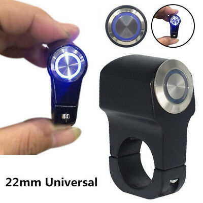 "7/8"" 22mm LED Motorcycle Handlebar Headlight Switch Fog Light Waterproof 12V"