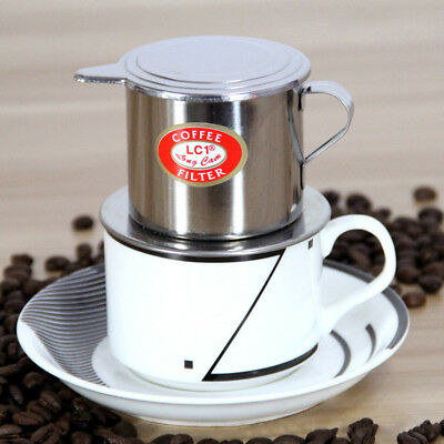 Vietnamese Coffee Filter Stainless Steel Maker Pot Infuse Cup Delicious Serving