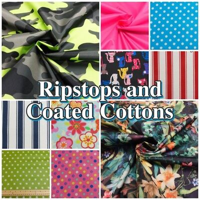 Polyester Ripstop Waterproof / Shower-proof  Dressmaking Craft Fabric Materials