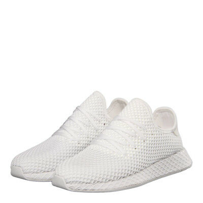 huge selection of 84a79 8b50b New Mens adidas Deerupt Runner - White Textile