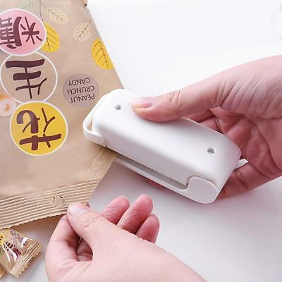Mini Sealing Machine Make Food Fresh Portable Plastic Bag Heat Sealer Capper UKu