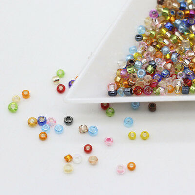 10g 2mm Color Round Hole Czech Crystal Spacer Glass Seed beads jewelry findings