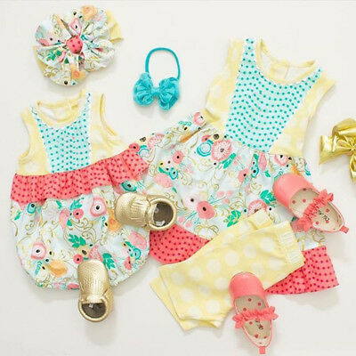 US Toddler Baby Girl Sister Matching Clothes Flower Romper Dress Outfits Sunsuit