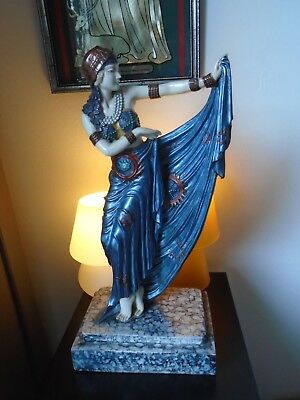 ART DECO DANCING LADY FIGURE MODERN REPRODUCTION by Academy