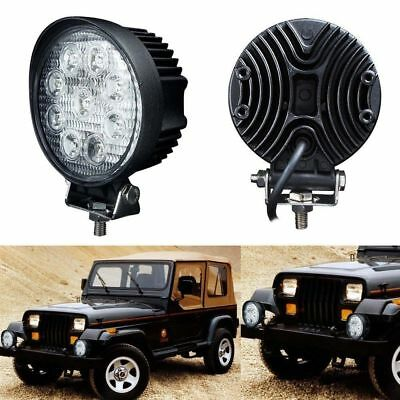 1pcs 27W Round LED Work Light Flood Reverse Lamp 4WD Offroad Truck SUV Pair AU