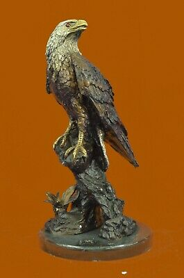 European Design Finery Eagle Flight Quality Lost Wax Bronze Statue Hand Made Art
