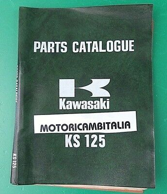 Kawasaki Ks 125 Ks125 Catalogo Ricambi List Spare Parts Catalog Manual Catalogue