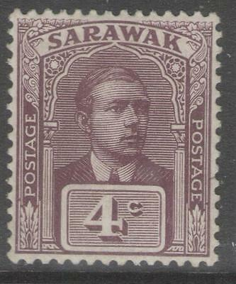 SARAWAK SG65 1923 4c BROWN-PURPLE MTD MINT