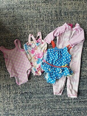 Baby girl swimming costume bundle size 18-24 month's/ 2-3years