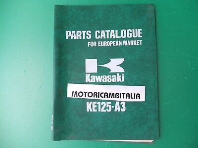 Kawasaki Ke 125 Ke125 Catalogo Ricambi List Spare Parts Catalog Manual Catalogue