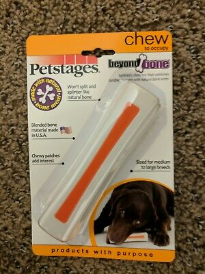 PETSTAGES BEYOND BONE MEDIUM to LARGE Synthetic Chew Dog Toy New