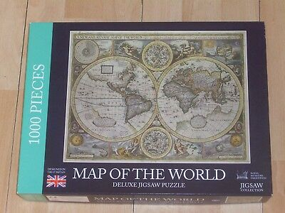 Laura ashley 1000 piece jigsaw puzzle vintage world map 500 1000 piece jigsaw puzzle map of the world gumiabroncs Images