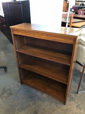 "35""W x 12""D x 43""H Wood bookcase in Cherry finish solid wood - Pick Up"