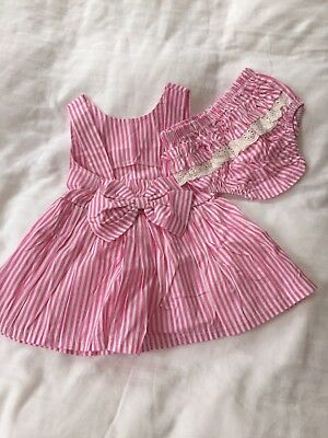 NWOT cute summer dress with frilly pants age 2years pink with bow detail
