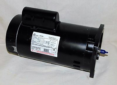 3 4 hp 3450 rpm 48y frame square flange 115 230v pool for Sq1152 ao smith motor