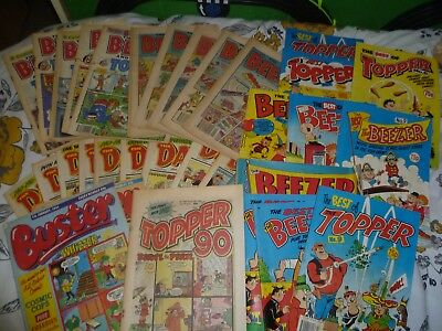 collection of comics The Dandy,The Bezzer & Topper,Buster,Topper