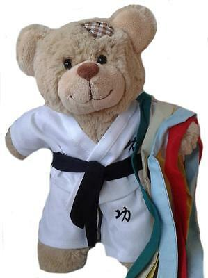 "KARATE OUTFIT & COLOUR BELTS -16""/40cm TEDDY BEAR CLOTHES & BUILD YOUR OWN BEARS"