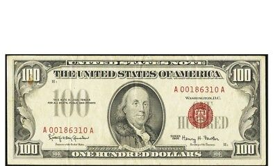 Fr. 1550 1966 $100 Red Seal Legal Tender United States Note Very Fine