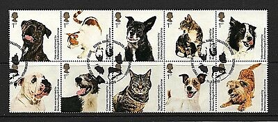 GB Stamps 2010 'Battersea Cats & Dogs Home' sg3036-3045 - Fine used block