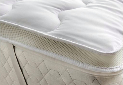 Microfibre Mattress Topper with Hollow fibre Filling Fitted Straps All Sizes 5CM
