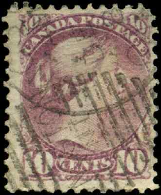 Canada #40 used F 1877 Queen Victoria 10c dull rose lilac Small Queen 'Kingston'