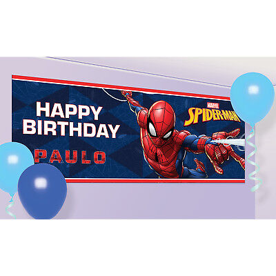 Spider-Man Add an Age Birthday Party Letter Banner
