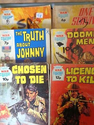 War Picture Library Lot Vintage 554-1444 Battle Leader 1969 Licence To Kill