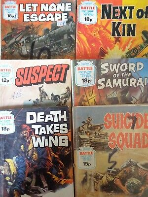 Battle War Picture Library Lot Vintage 1192-1398 Suspect 1978 Death Takes Wing