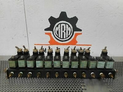 Fabco 113-M & 113MF1 (12) Solenoid Valves And Manifolds W/ (11) Connectors Used