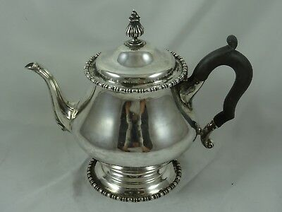 QUALITY solid silver TEA POT, 1912, 462gm - Mappin & Webb