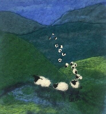 Coming off the Hill Original Felt painting by Audrey James