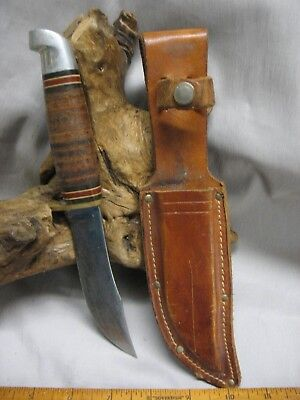 Vintage Western  USA Boulder Colo. Hunting SKINNER Knife with Sheath