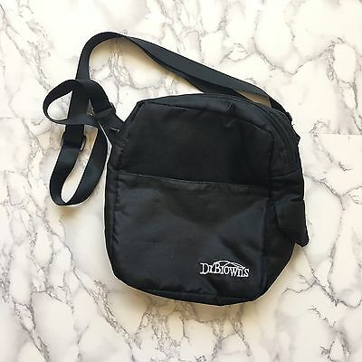 Dr Browns Bottle Bag Breast Milk Storage Case Insulated Hot Cold Baby Tote Black