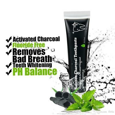 Bamboo Charcoal Black Mint Toothpaste Teeth Whitening UK SELLER