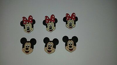 6 x Jibbitz Shoe charms for crocs Minnie Mouse Mickey Mouse